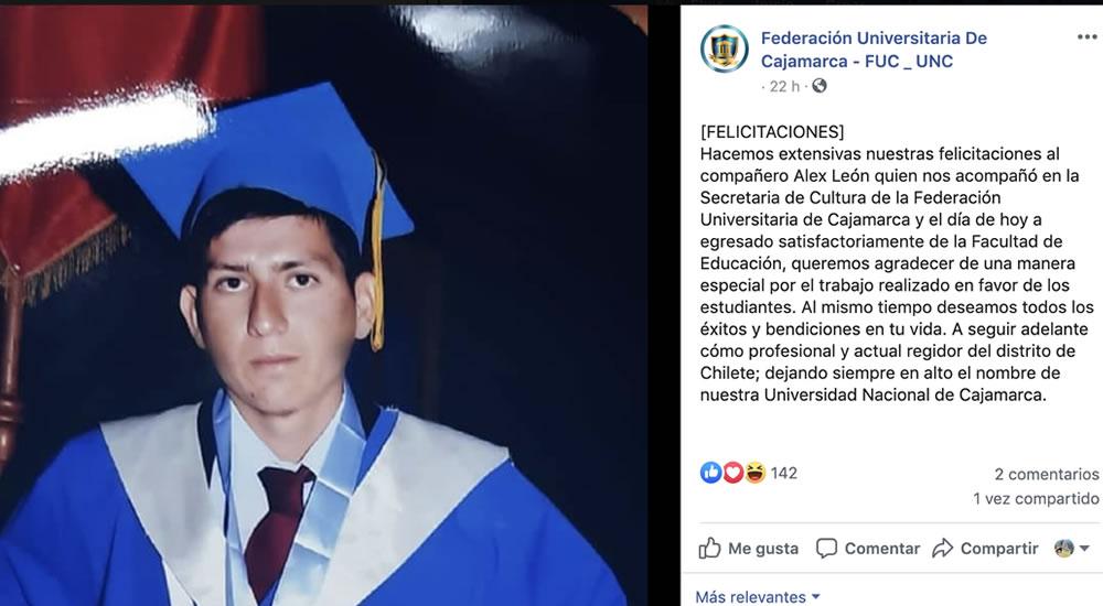 felicitaciones-alex-leon-federacion-universitaria-cajamarca